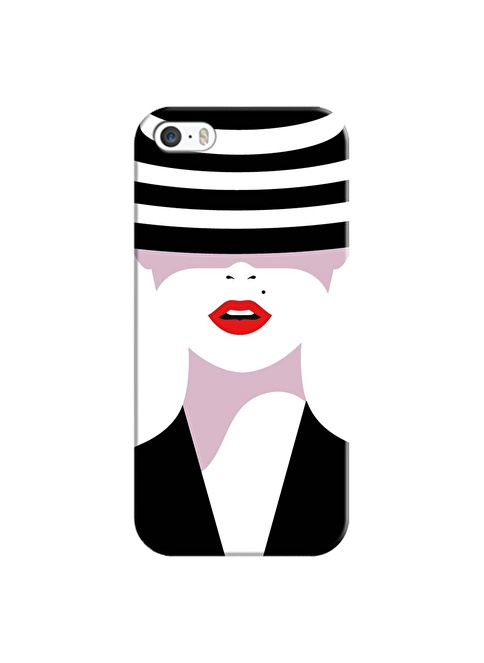 People's Cover iPhone 5/5S/SE Kabartmalı Telefon Kılıfı Renkli
